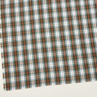 コットン×チェック(カーキグリーン、レッド&ブルー)×ブロード サムネイル2