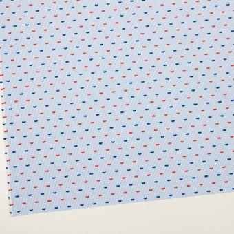 コットン×チェック(サックス、レッド&ネイビー)×ブロード・カットジャガード サムネイル2