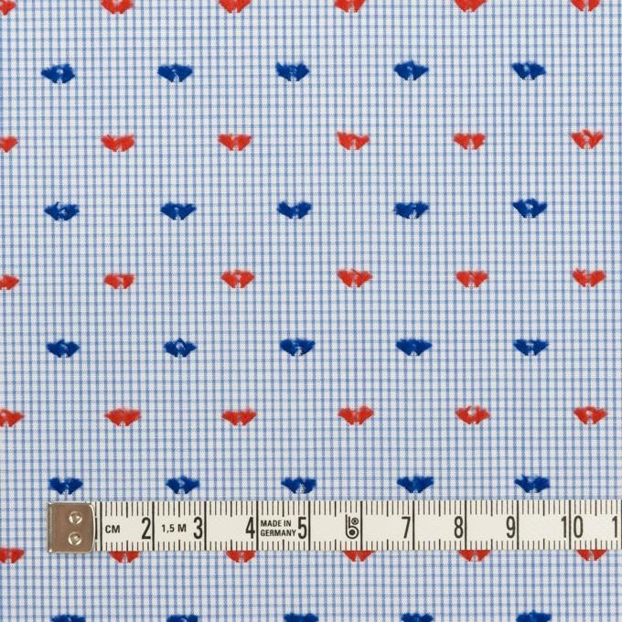 コットン×チェック(サックス、レッド&ネイビー)×ブロード・カットジャガード イメージ4