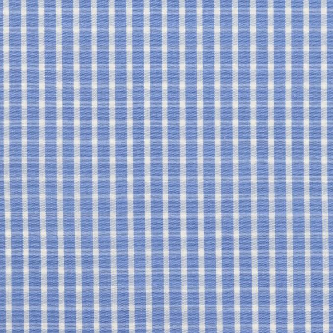 コットン×チェック(ヒヤシンスブルー)×ブロード イメージ1