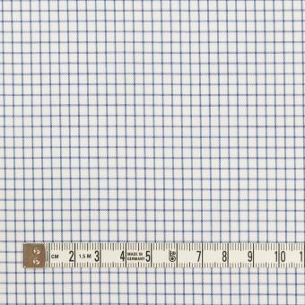 コットン×チェック(ブルー)×サージ サムネイル4