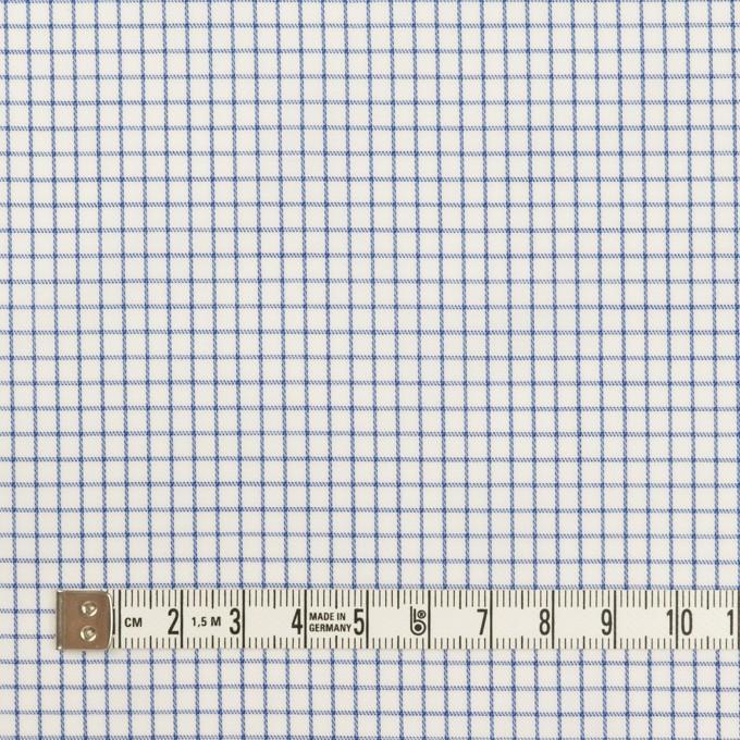 コットン×チェック(ブルー)×サージ イメージ4