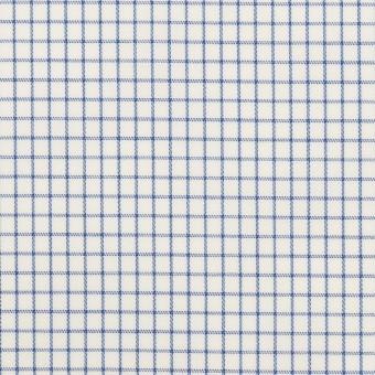 コットン×チェック(ブルー)×サージ サムネイル1