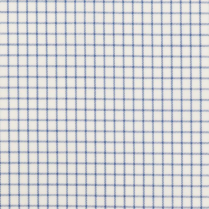 コットン×チェック(ブルー)×サージ イメージ1