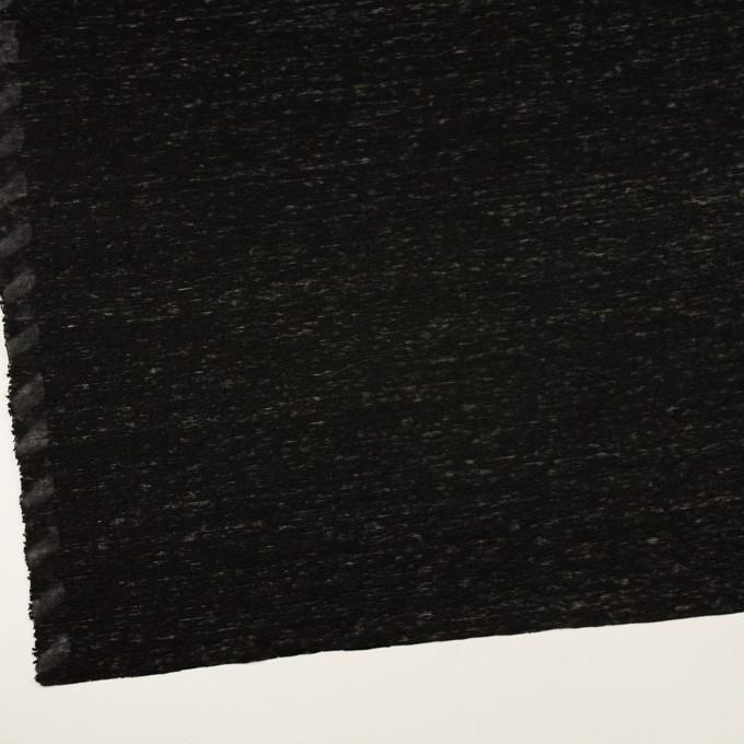 リネン×無地(ブラック)×天竺ニット_全2色 イメージ2