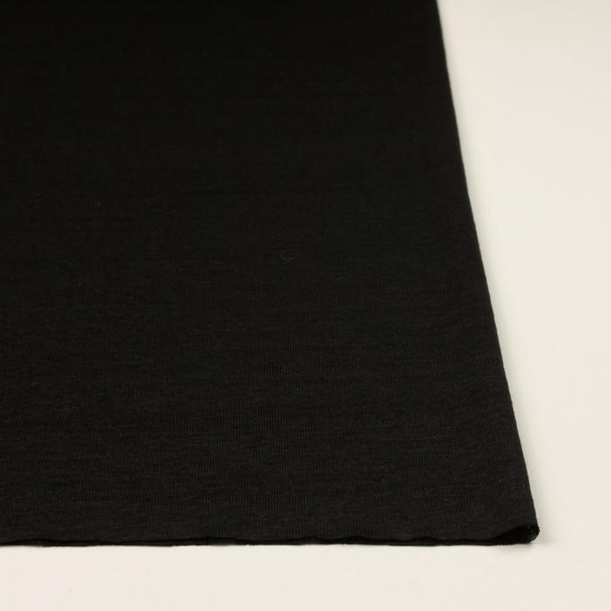 リネン×無地(ブラック)×天竺ニット_全2色 イメージ3