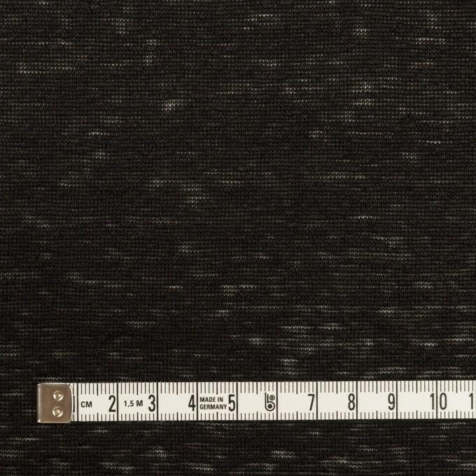リネン×無地(ブラック)×天竺ニット_全2色 イメージ4
