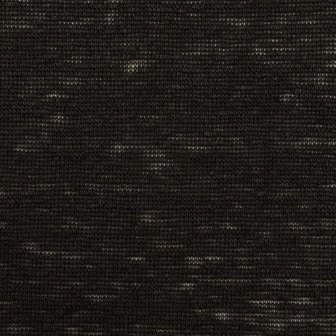 リネン×無地(ブラック)×天竺ニット_全2色 イメージ1