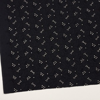 コットン×フラワー(ブラック)×ボイル刺繍 サムネイル2