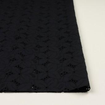 コットン×フラワー(ブラック)×ボイル刺繍 サムネイル3