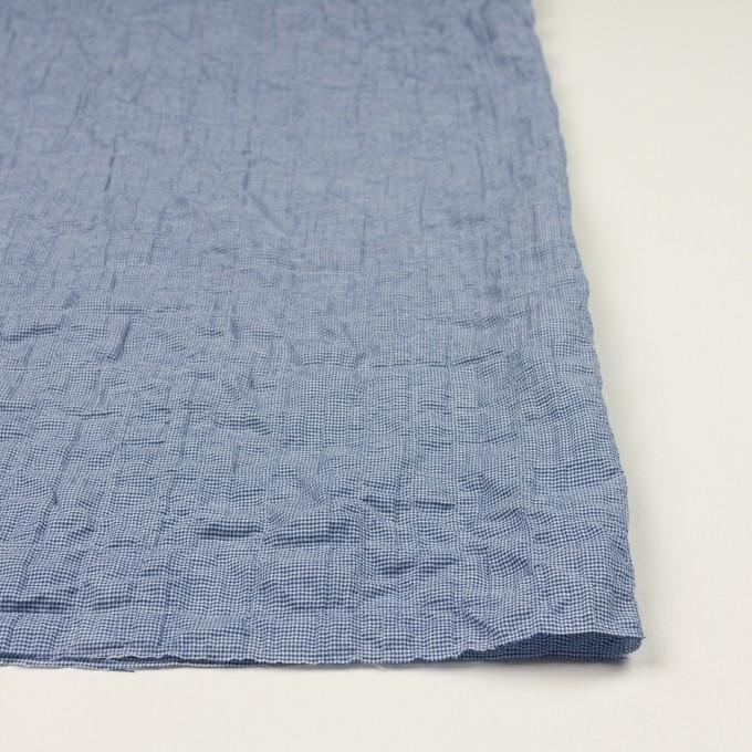 コットン&ポリウレタン×千鳥格子(ブルー)×ボイルシャーリング_全2色 イメージ3