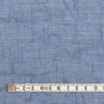 コットン&ポリウレタン×千鳥格子(ブルー)×ボイルシャーリング_全2色 サムネイル4