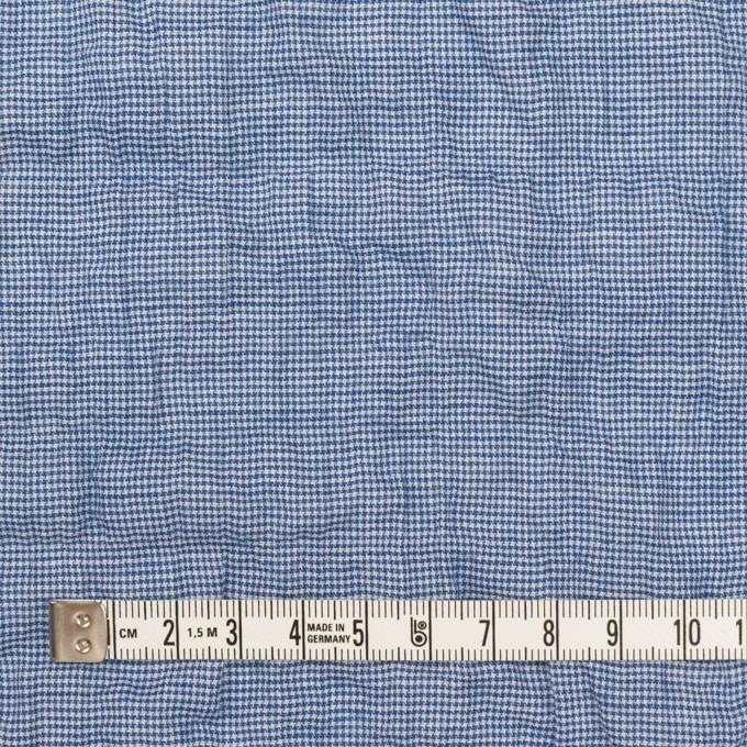 コットン&ポリウレタン×千鳥格子(ブルー)×ボイルシャーリング_全2色 イメージ4