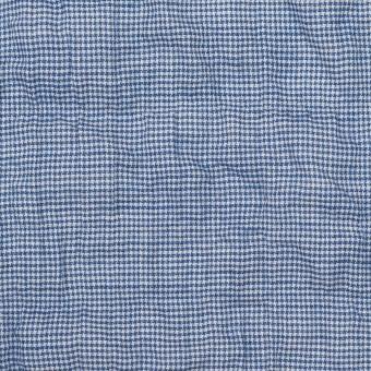 コットン&ポリウレタン×千鳥格子(ブルー)×ボイルシャーリング_全2色 サムネイル1
