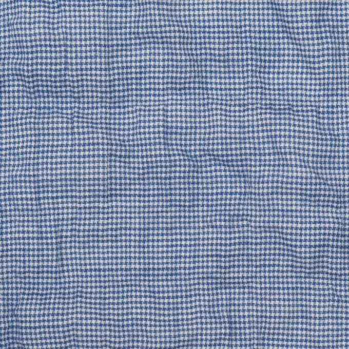 コットン&ポリウレタン×千鳥格子(ブルー)×ボイルシャーリング_全2色 イメージ1