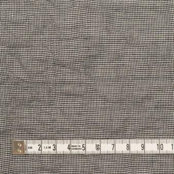 コットン&ポリウレタン×千鳥格子(チャコール)×ボイルシャーリング_全2色 サムネイル4
