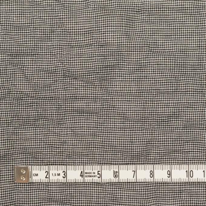 コットン&ポリウレタン×千鳥格子(チャコール)×ボイルシャーリング_全2色 イメージ4