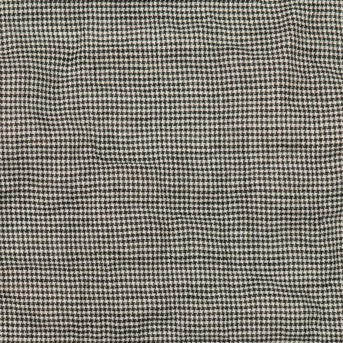コットン&ポリウレタン×千鳥格子(チャコール)×ボイルシャーリング_全2色 イメージ1