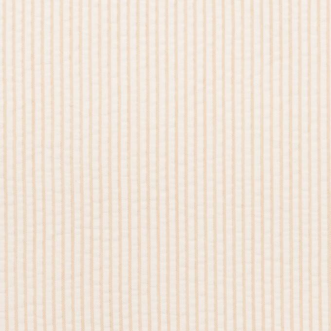 コットン×ストライプ(ベージュ)×サッカー イメージ1