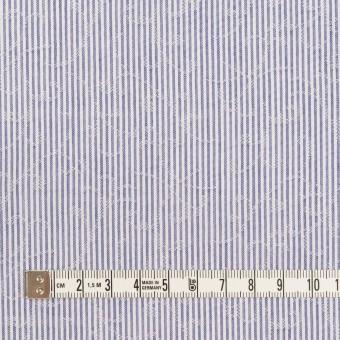 コットン&ポリエステル×ストライプ(ブルー)×ジャガード サムネイル4