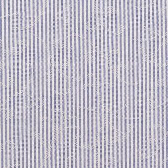 コットン&ポリエステル×ストライプ(ブルー)×ジャガード サムネイル1
