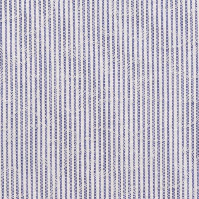 コットン&ポリエステル×ストライプ(ブルー)×ジャガード イメージ1