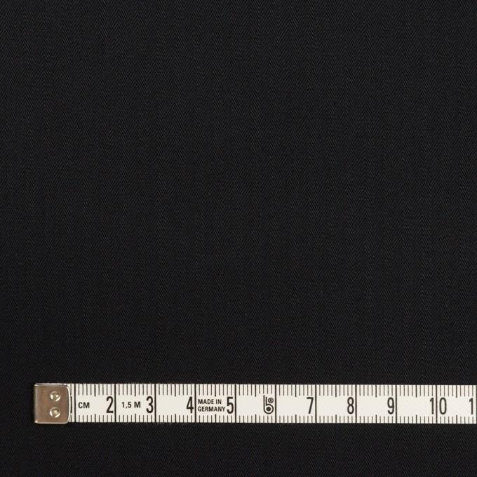 コットン×無地(ブラック)×ヘリンボーン イメージ4