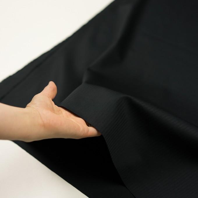 コットン×無地(ブラック)×ヘリンボーン イメージ5