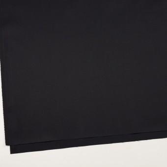 コットン&ポリエステル混×無地(ブラック)×サージストレッチ サムネイル2