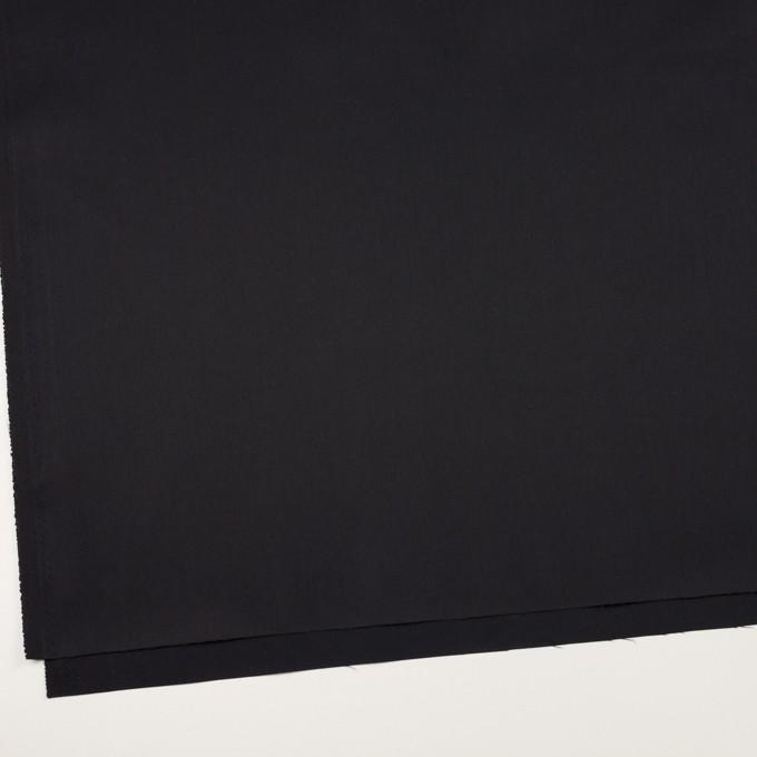 コットン&ポリエステル混×無地(ブラック)×サージストレッチ イメージ2