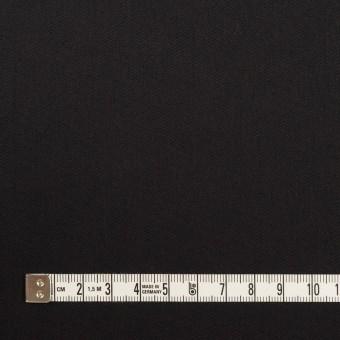 コットン&ポリエステル混×無地(ブラック)×サージストレッチ サムネイル4