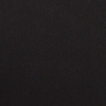 コットン&ポリエステル混×無地(ブラック)×サージストレッチ サムネイル1