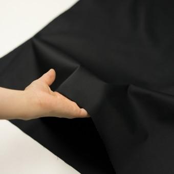 コットン&ポリエステル混×無地(ブラック)×サージストレッチ サムネイル5
