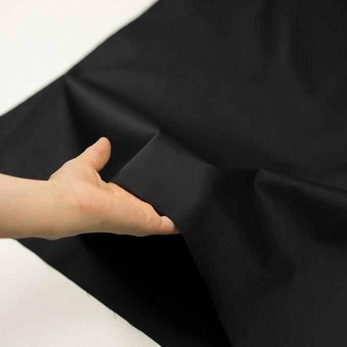 コットン&ポリエステル混×無地(ブラック)×サージストレッチ イメージ5