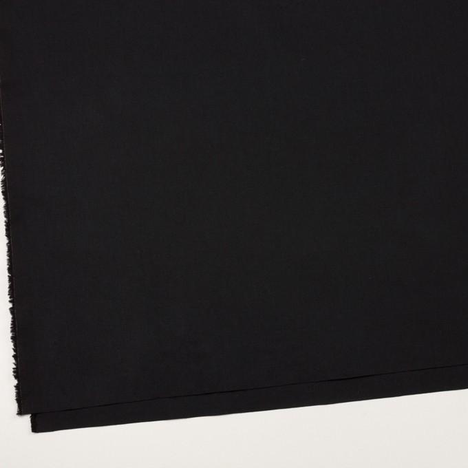 コットン&リネン×無地(ブラック)×高密ポプリン イメージ2