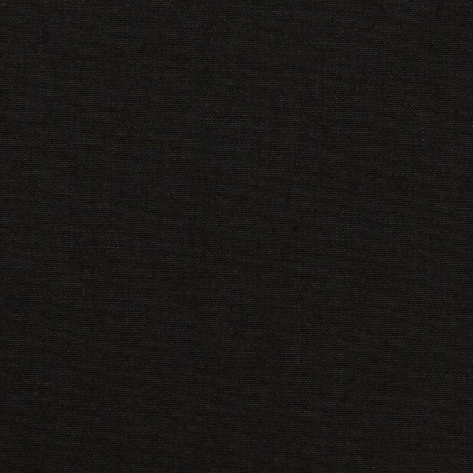 コットン&リネン×無地(ブラック)×高密ポプリン イメージ1