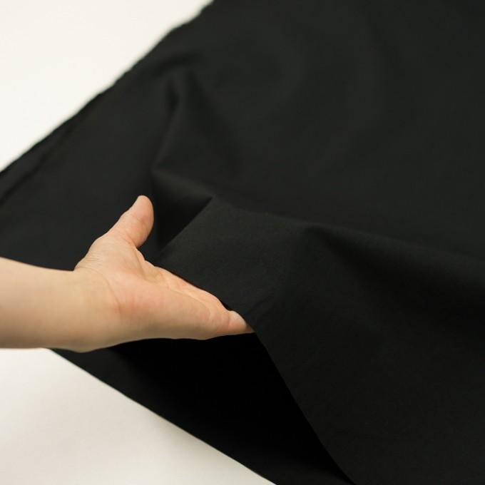 コットン&リネン×無地(ブラック)×高密ポプリン イメージ5