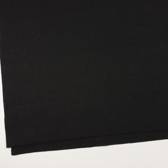 リネン&コットン×無地(ブラック)×キャンバス イメージ2