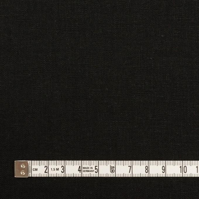 リネン&コットン×無地(ブラック)×キャンバス イメージ4
