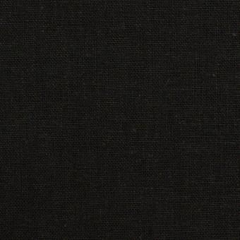 リネン&コットン×無地(ブラック)×キャンバス