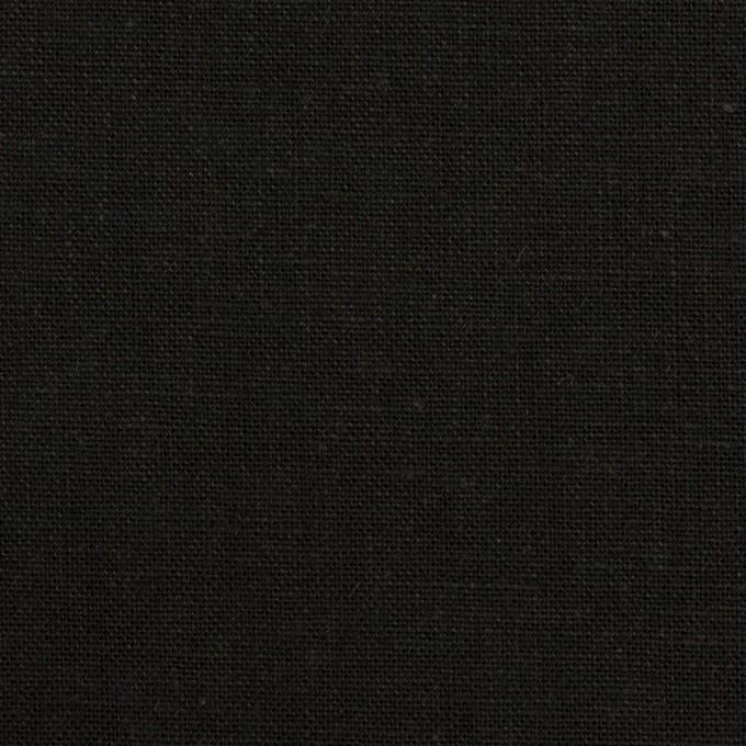 リネン&コットン×無地(ブラック)×キャンバス イメージ1