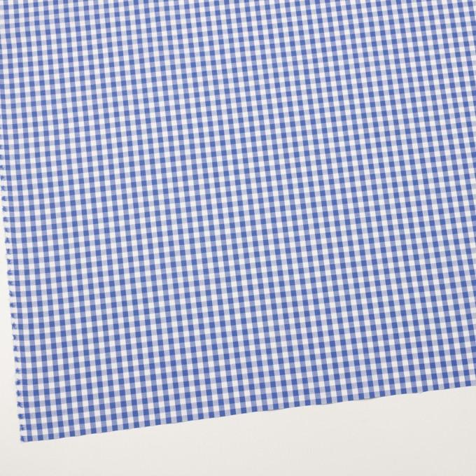 コットン×チェック(オリエンタルブルー)×斜子織_全2色 イメージ2