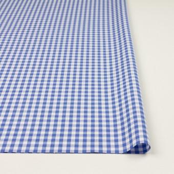 コットン×チェック(オリエンタルブルー)×斜子織_全2色 サムネイル3