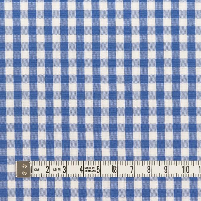 コットン×チェック(オリエンタルブルー)×斜子織_全2色 イメージ4