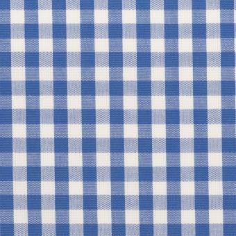 コットン×チェック(オリエンタルブルー)×斜子織_全2色