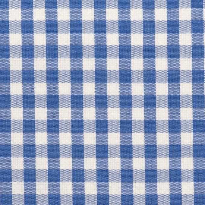 コットン×チェック(オリエンタルブルー)×斜子織_全2色 イメージ1