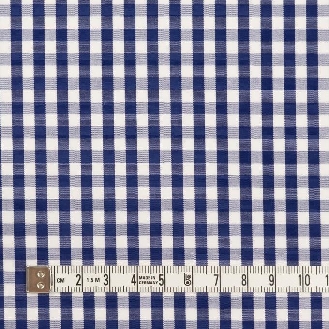 コットン×チェック(プルシアンブルー)×ブロード_全2色 イメージ4