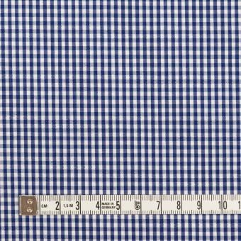 コットン×チェック(プルシアンブルー)×ブロード サムネイル4