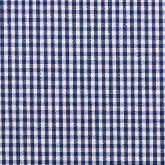 【150cmカット】コットン×チェック(プルシアンブルー)×ブロード
