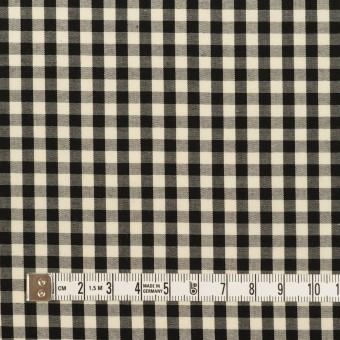 コットン×チェック(ブラック&エクリュ)×ブロード サムネイル4